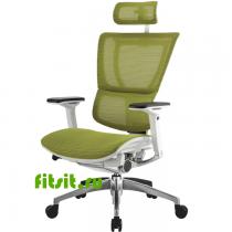 Эргономичное компьютерное кресло MIRUS-IOO-White