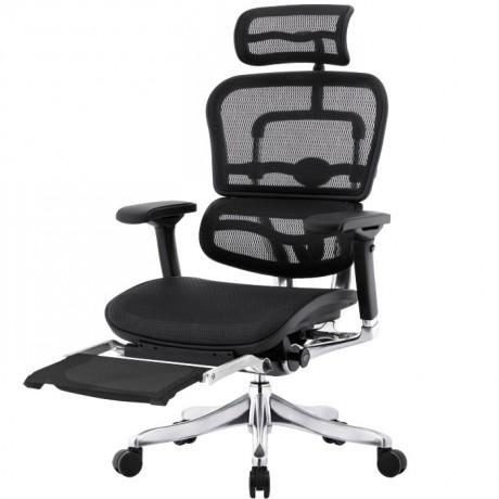 Эргономичное компьютерное кибер кресло с подставкой для ног ERGOHUMAN Plus Station