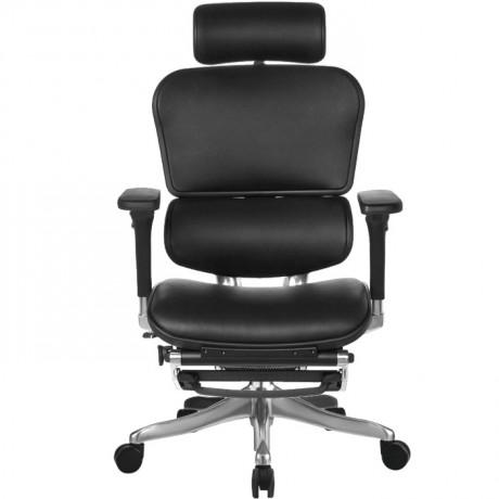 Кожаное кресло с подставкой для ног ERGOHUMAN Plus Lux LegRest