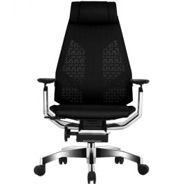 Эргономичное сетчатое компьютерное кресло GeniDia-Mesh Black