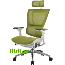 Эргономичное сетчатое компьютерное кресло MIRUS-IOO-White