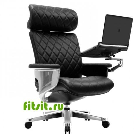 Компьютерное кожаное кресло реклайнер NUVEM Lux