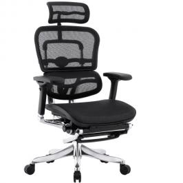 Компьютерное сетчатое кресло с подставкой для ног Ergohuman Plus Legrest