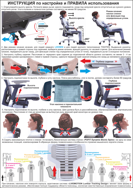 Instruction POFIT chair Comfort seating