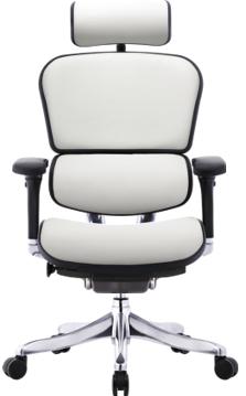 кожаное белое кресло ERGOHUMAN plus